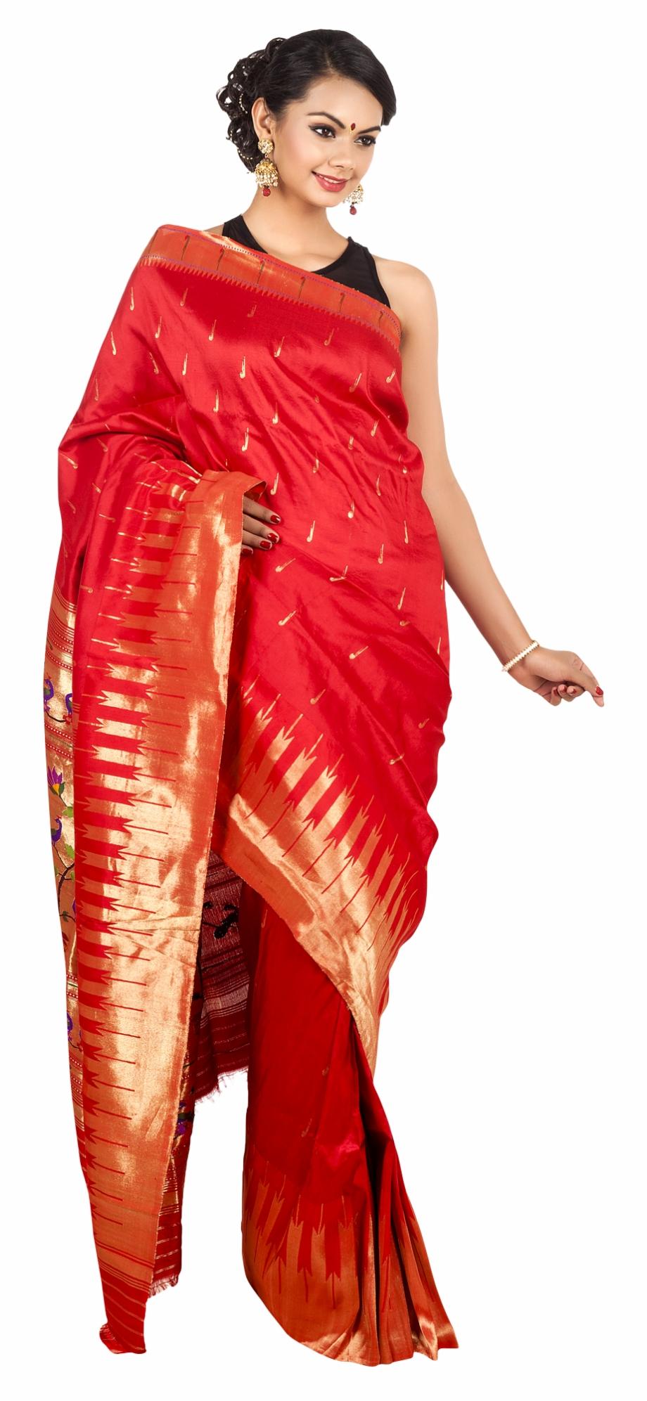 Wedding Saree Model Png Transparent.