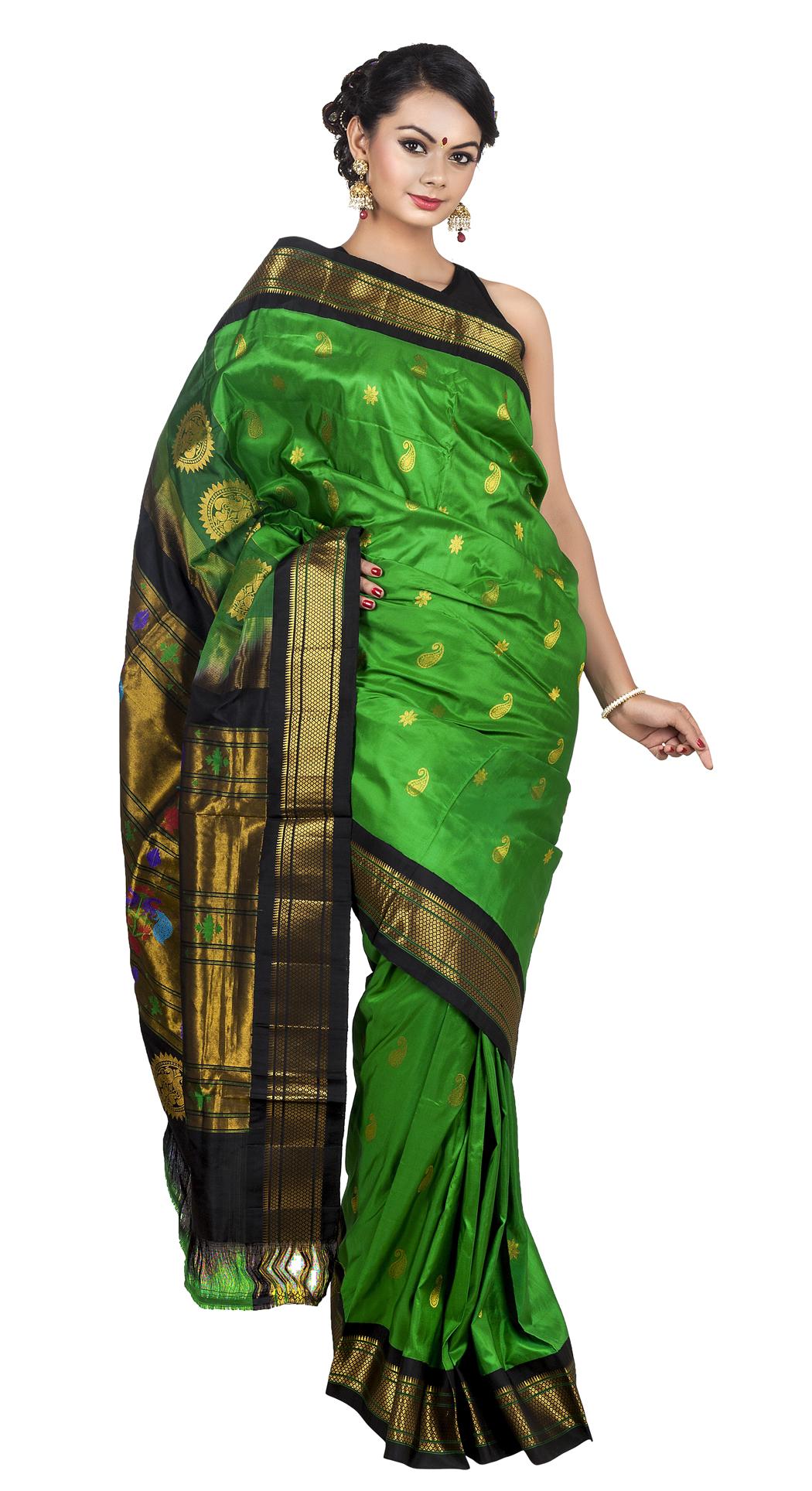 Wedding Saree PNG Transparent Image.