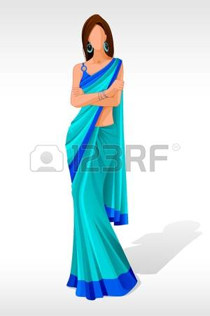 534 Saree Cliparts, Stock Vector And Royalty Free Saree Illustrations.