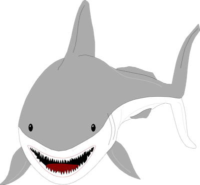 Great white shark desktop clipart.