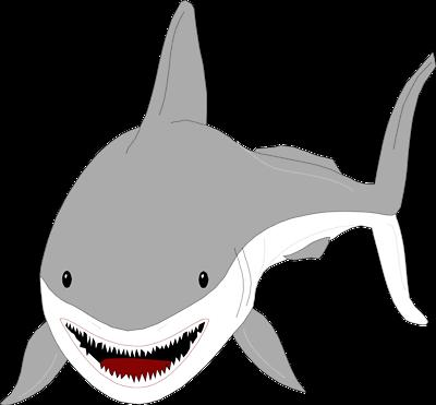 Great white shark desktop clipart.