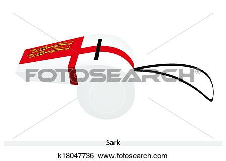 Clip Art of A Red and White Whistle of Sark k18047736.