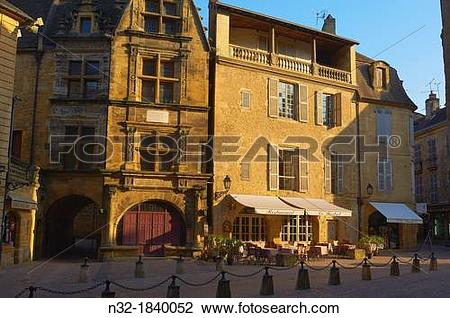 Stock Photo of Sarlat, Dordogne, The House of La Boetie, Perigord.
