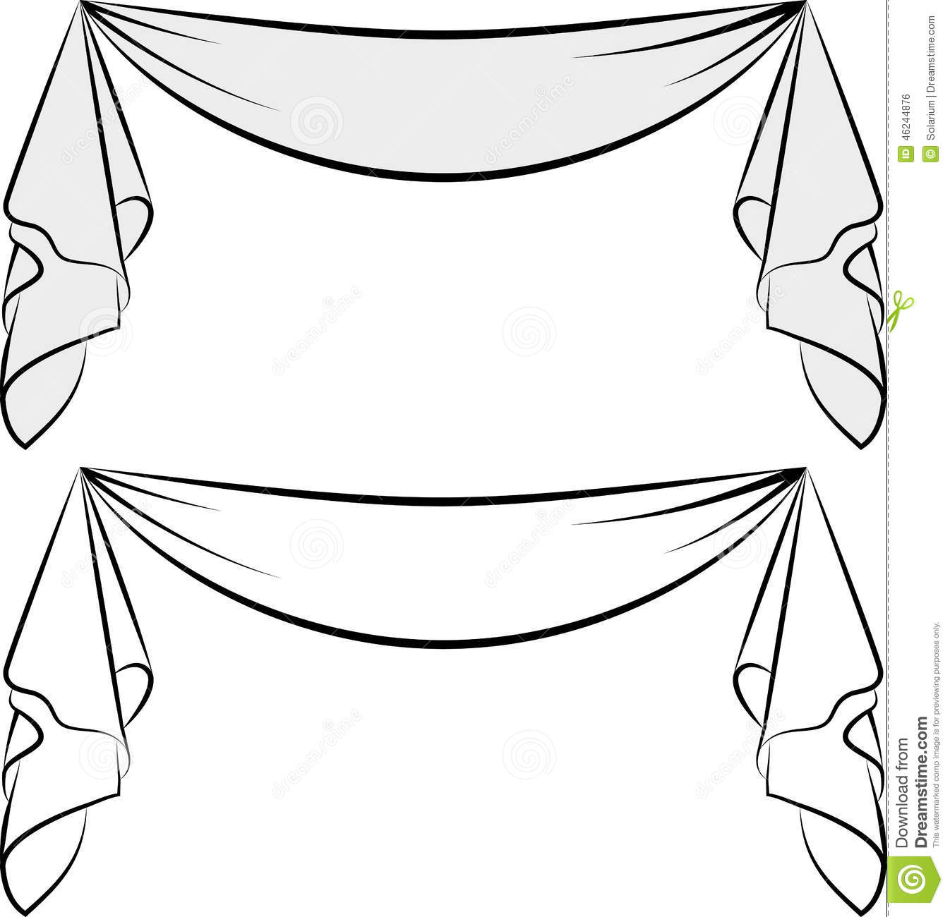 Decorative Sash Stock Vector.
