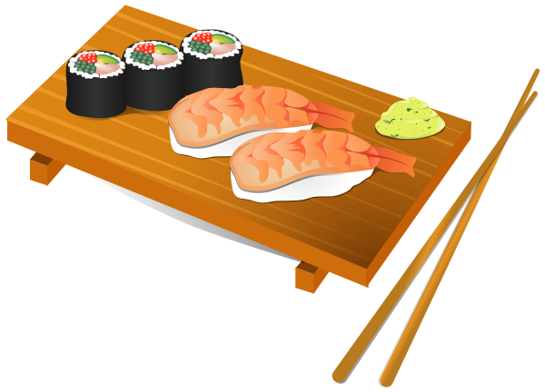Free Sushi Clipart, 1 page of Public Domain Clip Art.