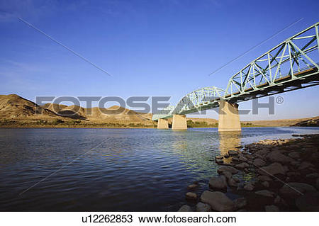 Stock Photo of Bridge on Highway 41 over the South Saskatchewan.