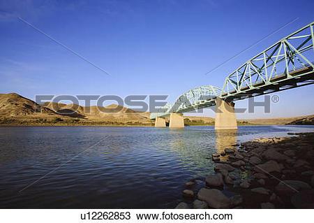 Stock Photo of Bridge on Highway 41 over the South Saskatchewan.
