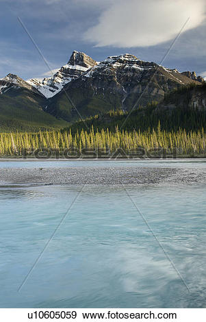 Stock Photograph of North Saskatchewan River, Kootenay Plains.