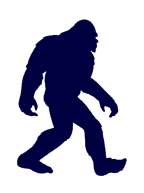 Sasquatch Silhouette Vector at GetDrawings.com.