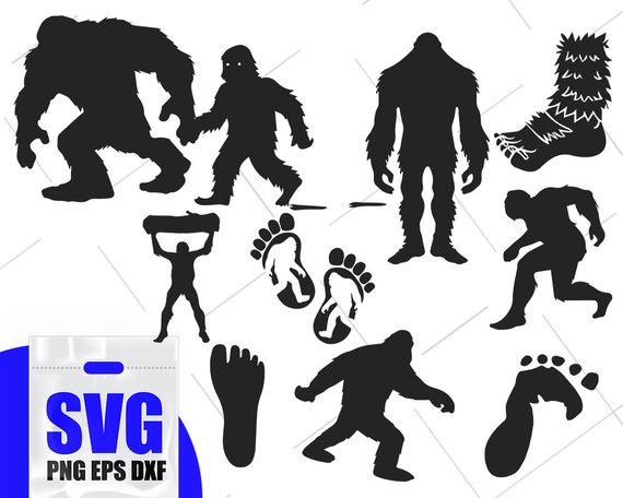Bigfoot SVG Bundle, yeti svg, bigfoot svg, sasquatch svg.