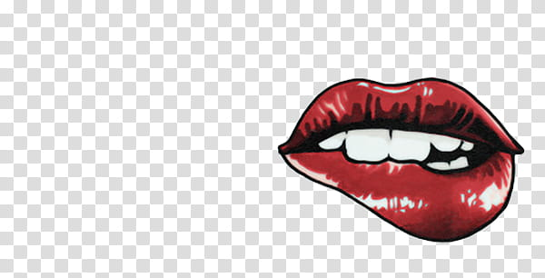 Sass, red lips transparent background PNG clipart.