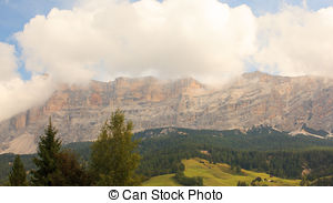 Stock Photo of Sasso di Santa croce, Dolomites.