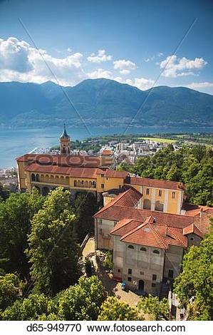 Stock Photography of Switzerland, Ticino, Lake Maggiore, Locarno.