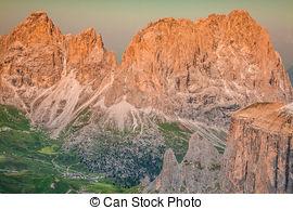 Stock Photo of Dolomiten Pordoi.