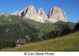 Stock Images of Sassolungo.