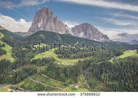 Sasso Lungo Mountain Stock Photos, Images, & Pictures.