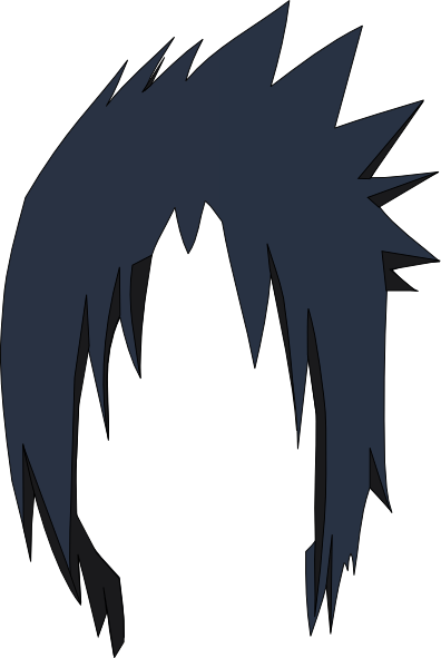 Sasuke hair png free download on Bankkita cliparts.