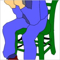 Sat In A Chair Clipart.