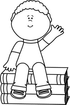 Sitting Clipart Black And White.
