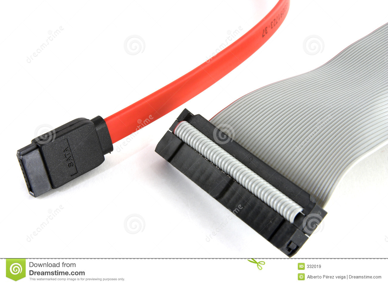 sata and ide cables royalty free stock images