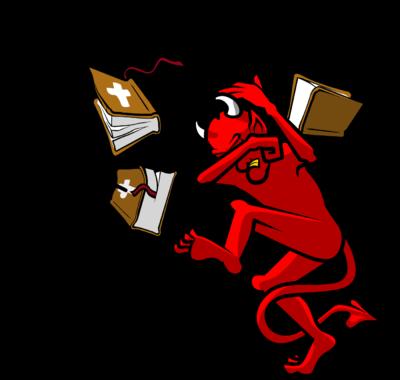 Image: Throw the Word at Satan.