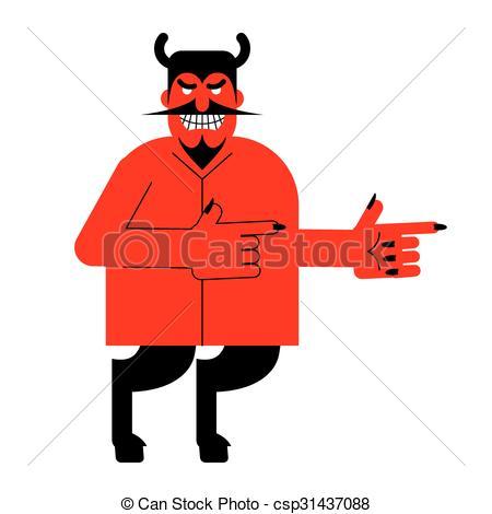 Vector de Diablo, Barba, indica, Demonio, satanás, cuernos, hoofs.