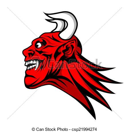 Ilustraciones vectoriales de cabeza, Diablo, satanás, mascota.