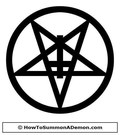 Satanic cross clipart.