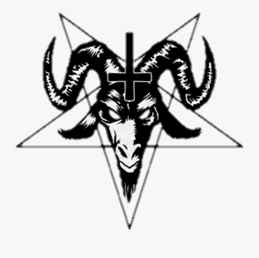 Satanic Goat With Cross Clipart , Png Download.