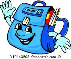 Satchel Clip Art Vector Graphics. 865 satchel EPS clipart vector.