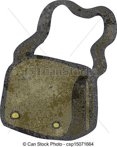 Vector Clip Art of cartoon satchel csp15527010.