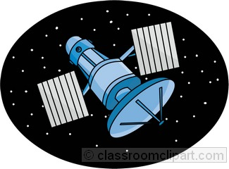 Space Satellite Clip Art.