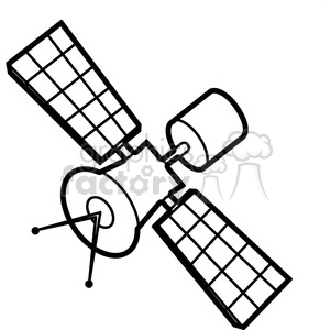 cartoon satellite illustration graphic clipart. Royalty.