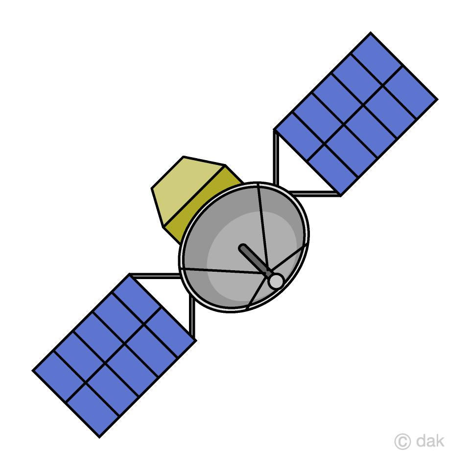 Satellite Clipart Free Picture|Illustoon.