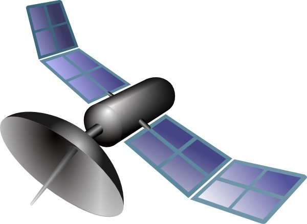 Satellite clip art Free vector in Open office drawing svg.