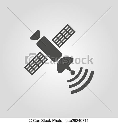 Vector Clip Art of The satellite icon. TV and broadcasting.