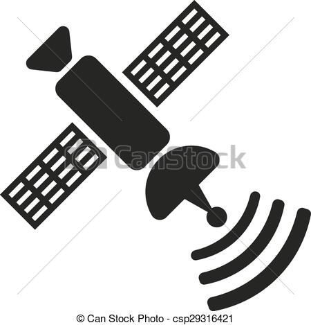 Vector Illustration of The satellite icon. TV and broadcasting.
