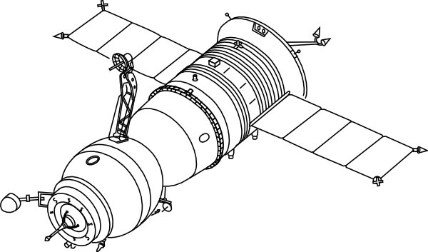 Satellite clipart black and white 5 » Clipart Portal.
