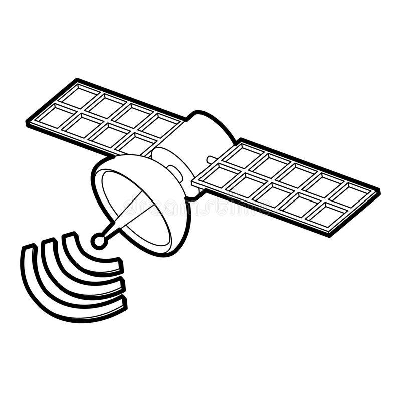 Satellite Drawing Clip Art.
