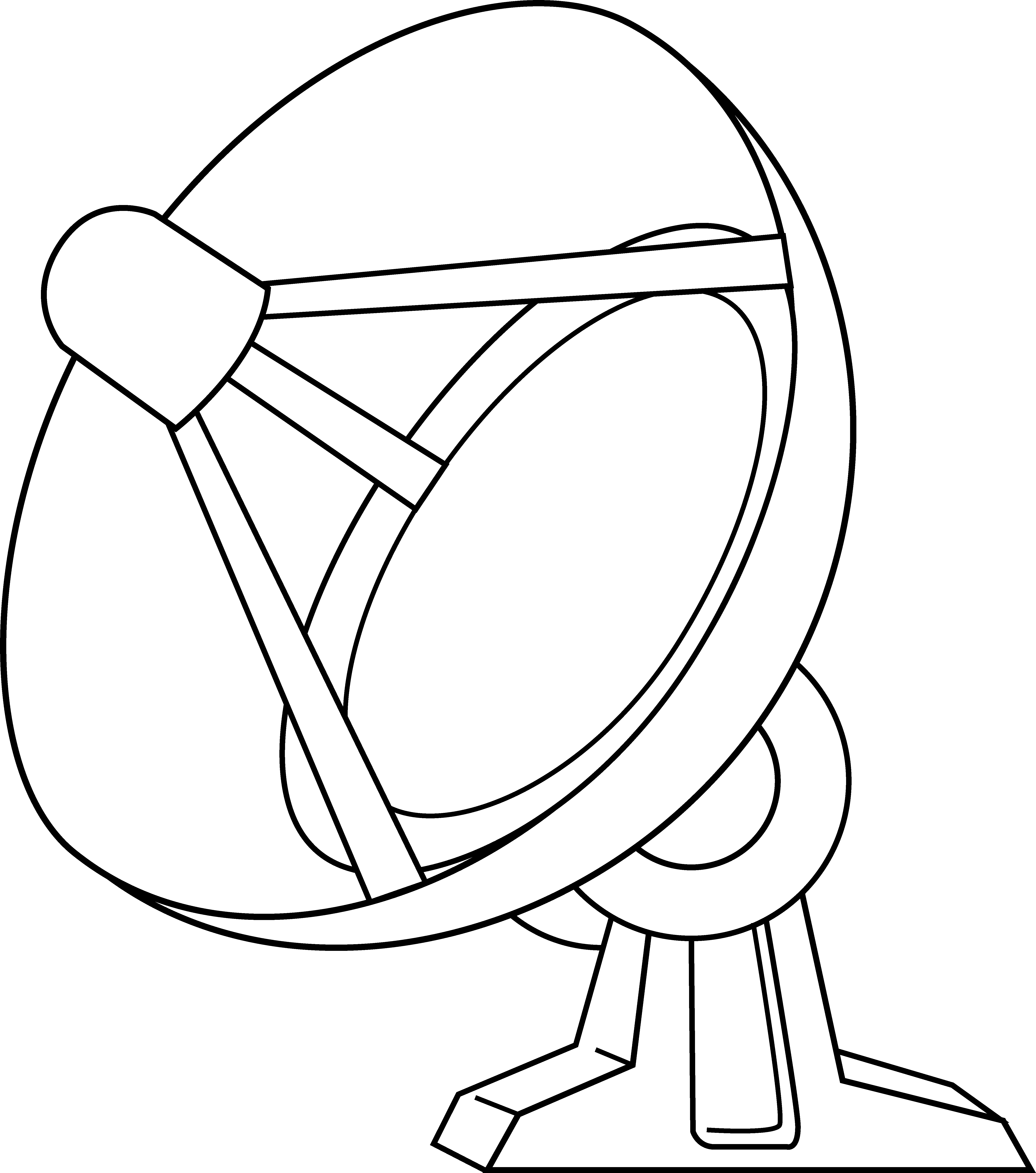 Free Satellite Clipart Black And White, Download Free Clip.