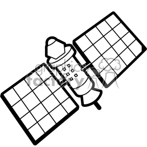 space low earth orbit satellite svg cut file vector clipart. Royalty.