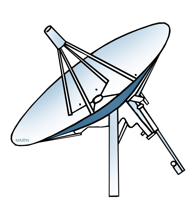 Free Outer Space Clip Art by Phillip Martin, Satellite Dish.