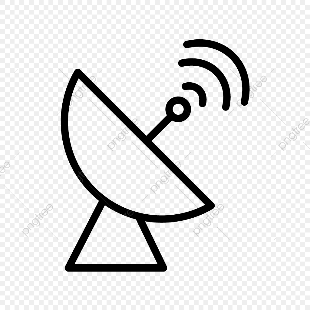 Vector Satellite Dish Icon, Antenna, Dish, Radar PNG and.