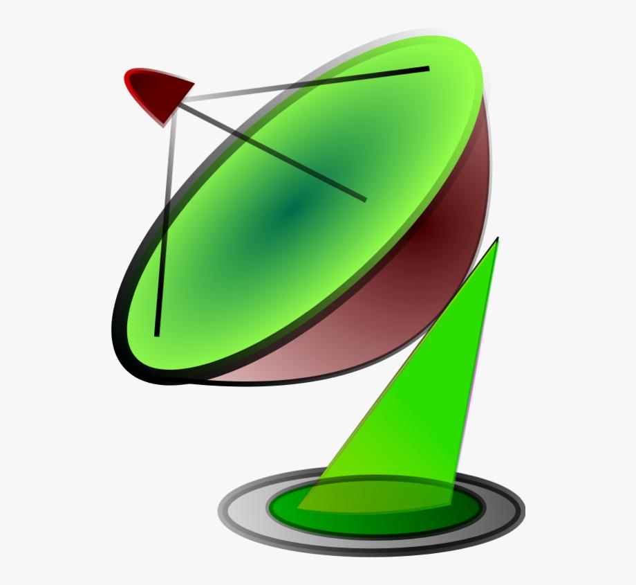 Satellite Dish Vector Clip Art.