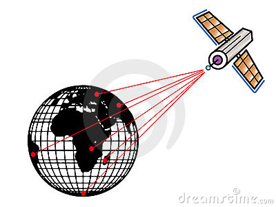 Satellite clipart of earth.