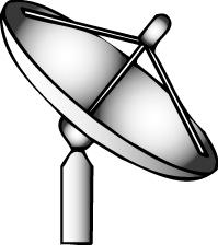 Free clipart satellite dish.