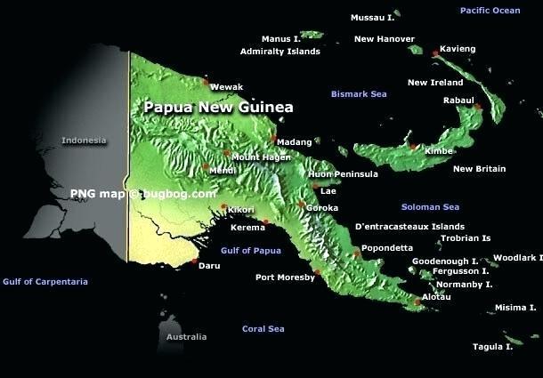 google map of papua new guinea.