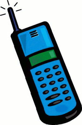 Cell Phone Moving Clipart.
