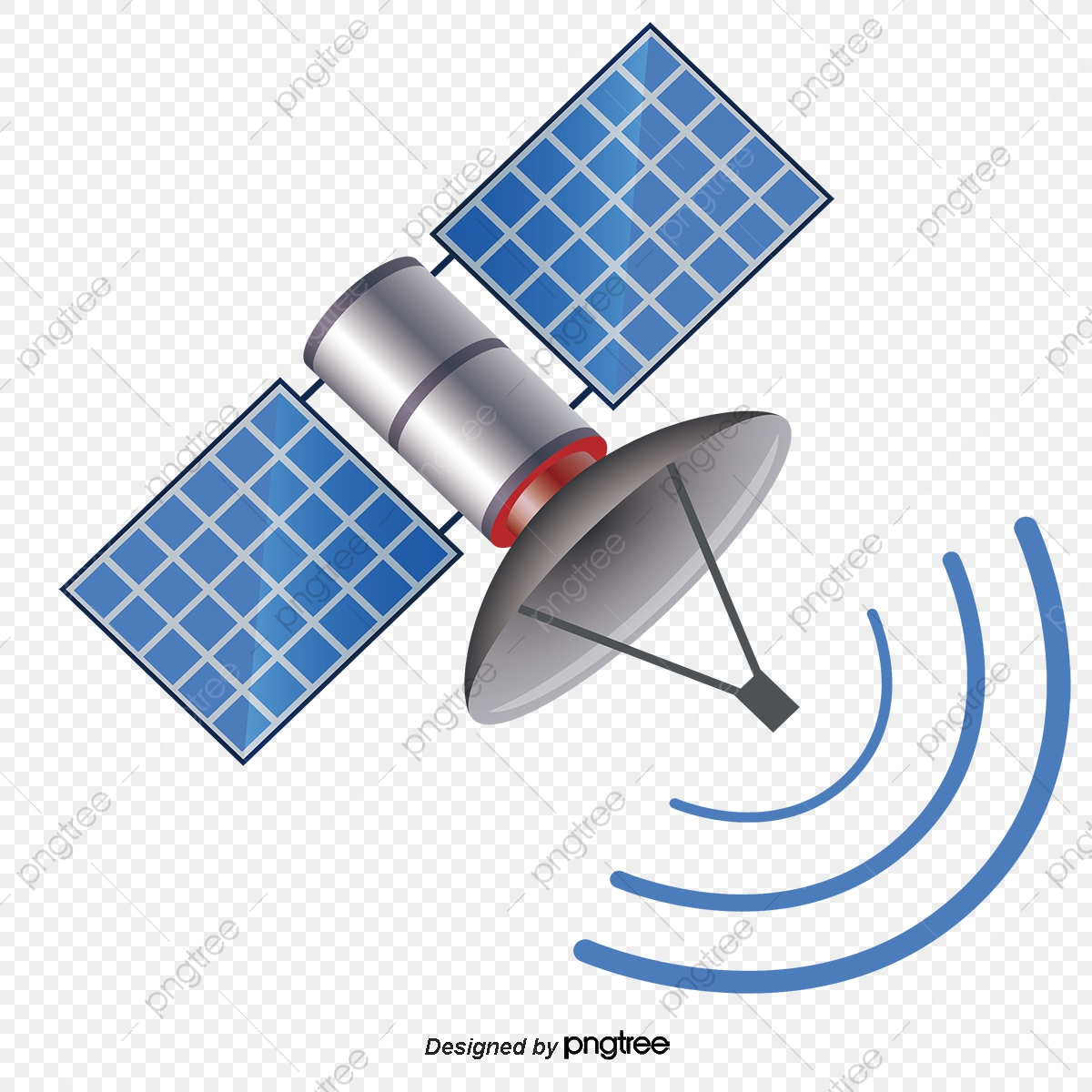 Blue Satellite, Blue Vector, Blue, Delayering PNG and Vector.