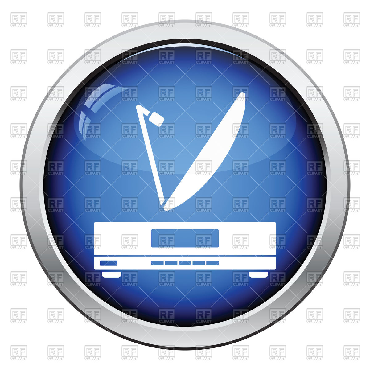 Satellite receiver with antenna icon Vector Image #120895.